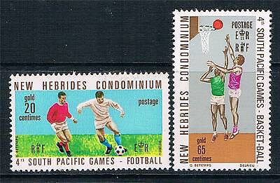 New Hebrides 1971 4th South Pacific Games SG 149/50 MNH