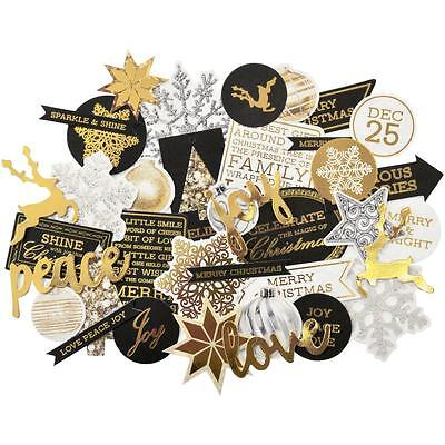 Glisten Christmas Diecuts Kaisercraft Collectables Cardstock Die Cuts Gold Foil