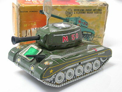 US Army M-50 Tank / Panzer Marke ALPS Made in Japan Friction 1950's or 60's