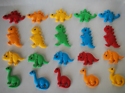 12 x Dinosaurs CUPCAKE TOPPERS edible cake decorations KIDS BIRTHDAY