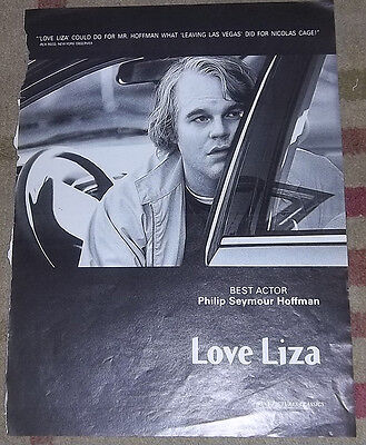 """Love Liza Philip Seymour Hoffman Variety Awards Ad 2003 """"For Your Consideration"""""""