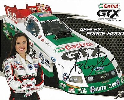 "2009 Ashley Force ""castrol Gtx""  Nhra Autographed Signed Postcard"