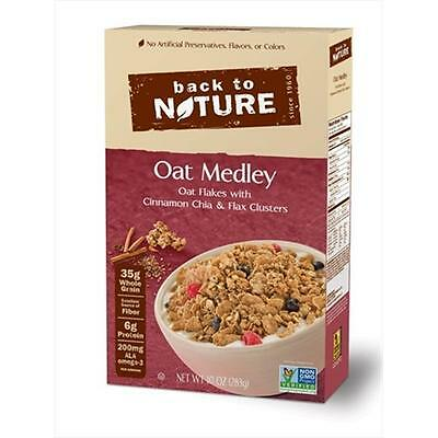Back To Nature 10 Ounce Oat Medley With Cinnamon Clusters Cereal, Case Of 6