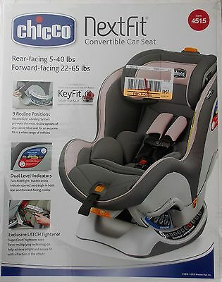 Chicco NextFit Convertible Car Seat ~ NEW 5-65 lbs Baletta Pink 9 Recline's