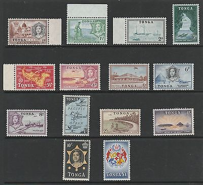 Mounted Mint Set. Tonga, 1953 SG101 to SG114. Values to £1.