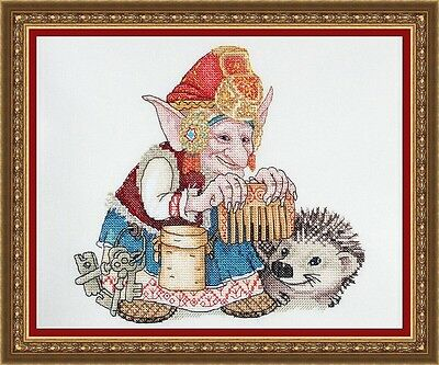 """/""""Guitarist/"""" Counted Cross Stitch Kit NEOCRAFT MH-37"""
