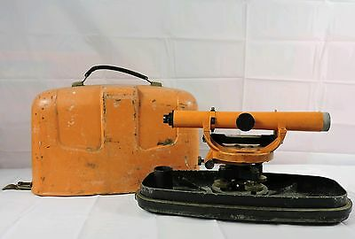 Vintage DIETZGEN SERIES 6370 Surveyor Transit w/Case ORANGE *See Condition