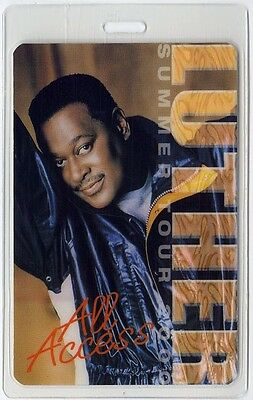 Luther Vandross authentic 2000 concert tour Laminated Backstage Pass