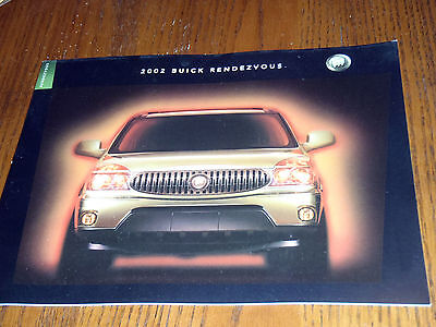 + 2002 BUICK RENDEZVOUS + 02 GM SALES BROCHURE TIGER WOODS + 21 Pages +