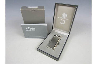 Superb Dunhill electroplate UNIQUE Lighter PAT 52213, with origina paperwork box