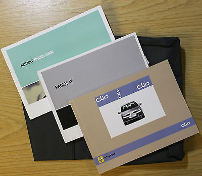 Renault Clio Ii 2 Owners Manual Handbook Wallet 2005-2009 Pack 6905