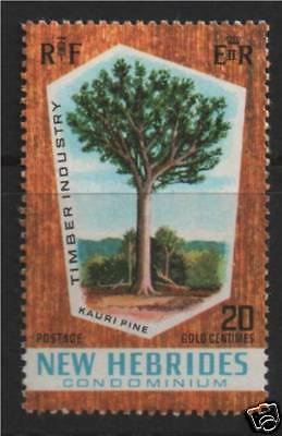 New Hebrides 1969 Timber Industry SG 135 MNH
