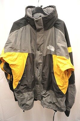 Vintage The North Face Mens Xl Goretex Jacket Black / Yellow / Grey