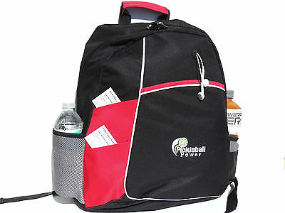 """PICKLEBALL MARKETPLACE """"Metro"""" Backpack - New/Embroidered - Red"""