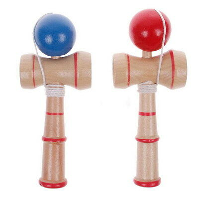 Creative Kid Kendama Ball Japanese Traditional Wood Game Balance Skill Toy Q ぱ