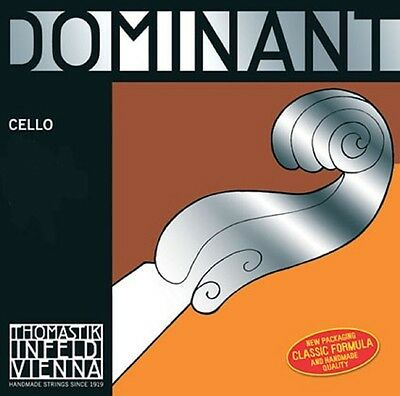 Dominant Cello Strings C, G, D & A - 4/4, 3/4, 1/2 & 1/4 Sizes Available