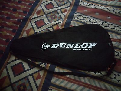 Dunlop Sport   Canvas   Racket Cover   Black     Not Sealed      New  Condition