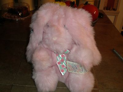 Vintage Applause Stuffed Bunny Rabbit EASTER Large Natasha Pink NOS New Tags