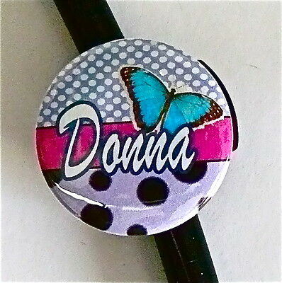 Id Stethoscope Name Tag Fashion Butterfly ,nurse, Doctor, Tech, Medical, Flower