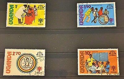 First Day Cancelled Used stamps - Uganda 'Year of the Child' 1979