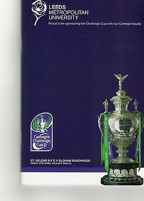 St.helens V Oldham Challenge Cup Rd 5 Rugby League Programme & Dvd 27-04-12