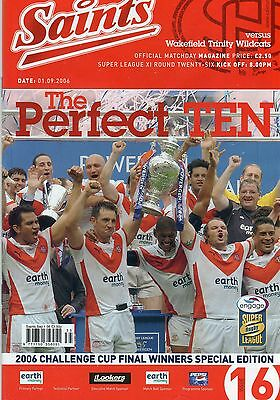 St.helens V Wakefield Trinity Wildcats Rugby League Programme & Dvd 01-09-06