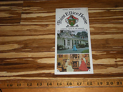 Point Ellis House Bc Canada Advertising Old Canadian Brochure Map