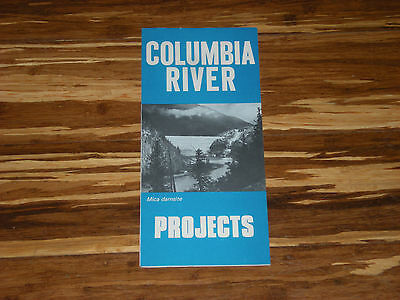 Old Columbia River Dam Mica Damsite Projects Map