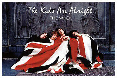 """The Who The Kids Are Alright Poster 24"""" x 36""""  Free US Shipping Union Jack"""