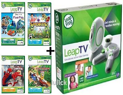 NEW Leap Frog Leap TV Educational Active Video Gaming System NIB +3 GAMES