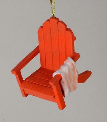 Beach And Deck Lovers!! Orange Adirondack Chair Christmas Ornament New