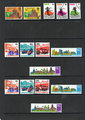 Singapore Unmounted Mint& Used Sets  Good Cat Values
