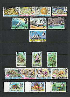 British Indian Ocean Territory Sets Mainly Used+ One N/h/mint Good Cat Value