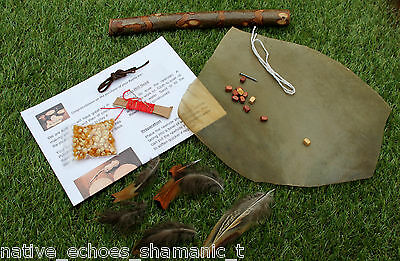 Shaman/Pagan/Native American Red Deer Rawhide Rattle Kit.Design Your own Rattle.