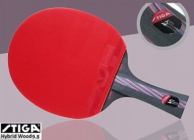 STIGA Carbon Hybrid Wood 9.8 Table tennis racket Ping Pong Butterfly DHS + Case