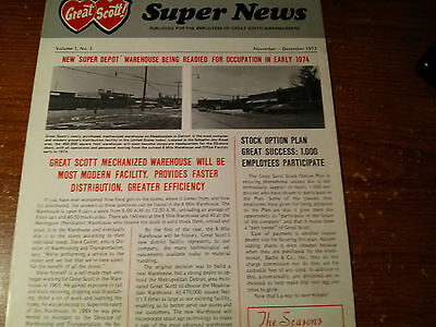 Vintage 1973 Great Scott !! Supermarkets Newsletter Michigan