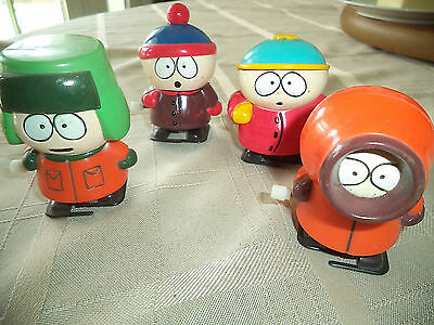 "South Park Set Walking Wind Up Toys Cartman Kyle Kenny Stan Working 3"" High"