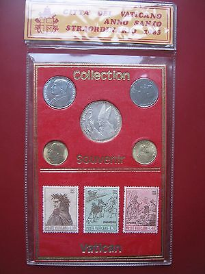 Vatican The Papal State 1983 Souvenir Coins Medal and Stamps set