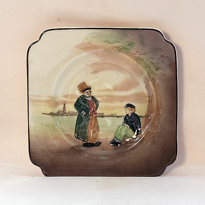 """Doulton Dickens Series Ware Side Plate 6"""" Oliver Twist In Relief D5833"""