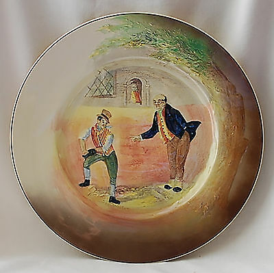 """Doulton Dickens Series Ware Plate 10.5"""" Sam Weller In Relief D5833"""