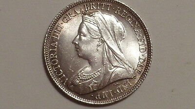 1900 OH Shilling.Victoria 1893-1901. Choice UNC. Frosty Lustre. British Milled