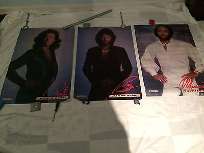 3 Original  Vintage 1979 The Bee Gees Posters Barry Robin Maurice lot/set Disco