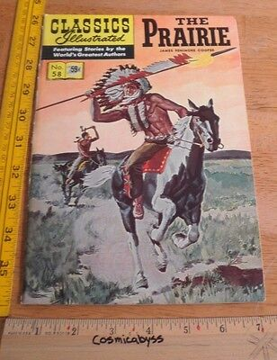 Classics Illustrated Comic #58 The Prairie F- 1960's HRN 169