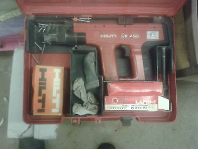 Hilti DX-450 Powder Actuated Fastening Systems Nail Gun Kit With Case concrete