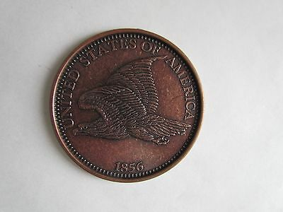 "Vintage Novelty 1856 Flying Eagle 3"" Metal Coaster"