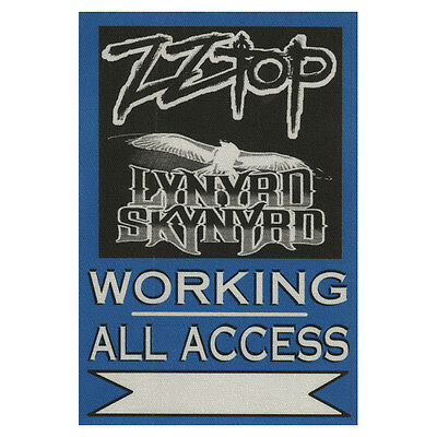 ZZ Top authentic ALL ACCESS 2011 tour Backstage Pass