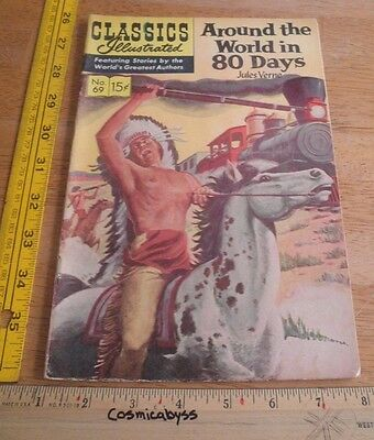 Classics Illustrated Comic Around the World in 80 Days F- 1960's HRN 167