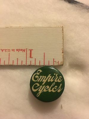 vintage Motorcycle Bicycle Empire Cycle Button Badge Early Rare See Pictures