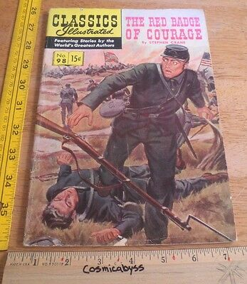 Classics Illustrated Comic #98 The Red Badge of Courage VG 1960's HRN 152