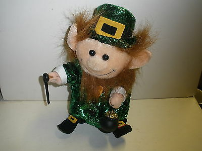 Gemmy Dancing & Singing Leprechaun with pot o' gold CUTE TESTED WORKS PERFECT